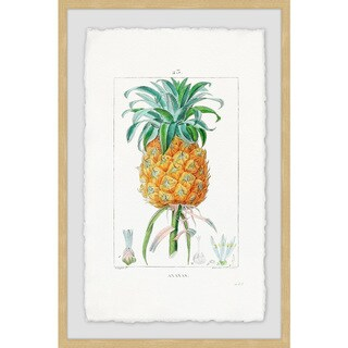 Link to Marmont Hill - Handmade Botanical Pineapple Framed Print Similar Items in Art Prints