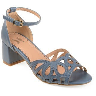e9179803eea Journee Collection Women s  Ashby  Vintage Ankle Strap Open-toe Faux  Leather Heels