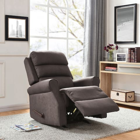 Copper Grove Gerards Rocker Recliner Chair-Brown Nubuck