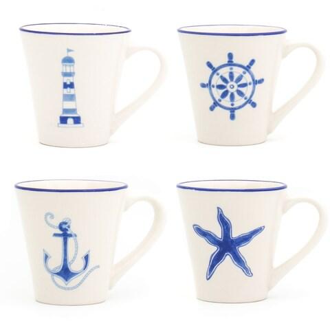 Euro Ceramica Ahoy Assorted Mugs (Set of 4)