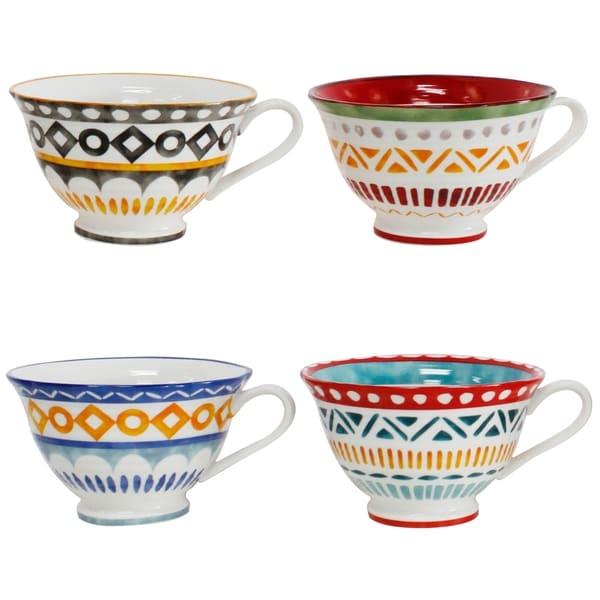Euro Ceramica Amalfi Assorted Latte Mugs (Set of 4)  sc 1 st  Overstock.com & Euro Ceramica Amalfi Assorted Latte Mugs (Set of 4) - Free Shipping ...