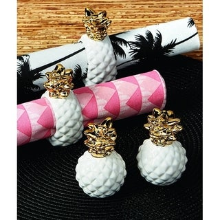 Pineapple Napkin Ring Set of 4