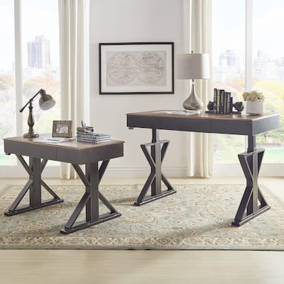 Cabella Adjustable Height X-base Standing Desk by iNSPIRE Q Classic