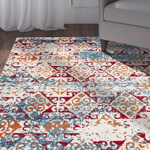 LR Home Fusion Geometric Illusion Rug