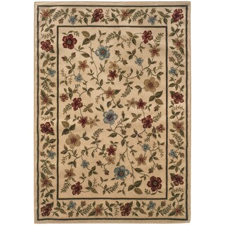 Floral Ivory Area Rug (7'10X10')