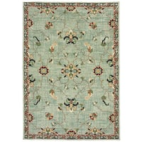 "Style Haven Floral Traditional Blue/Teal Area Rug (7'10 x 10'10) - 7'10"" x 10'10"""
