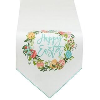 Easter Wreath Embellished Table Runner