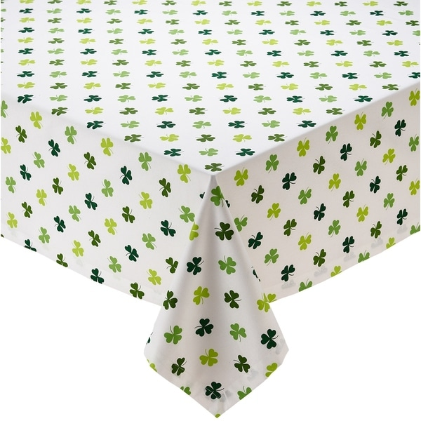 Shamrock Shake Printed Tablecloth - 52 x 52""
