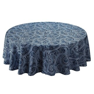 Blue Paisley Umbrella Tablecloth