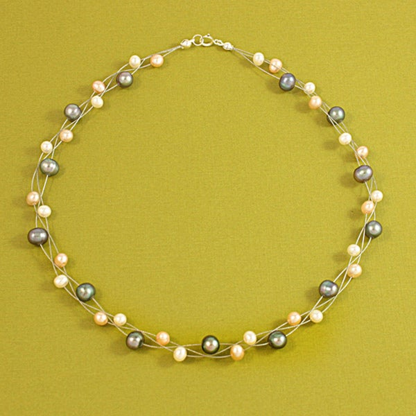 Sterling Silver Freshwater Pearl Necklace (USA)