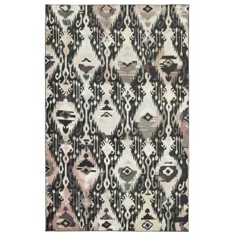 Silver Orchid Barry Ikat Multicolor Area Rug