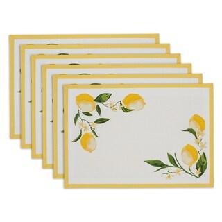 Lemon Bliss Printed Placemat Set of 6