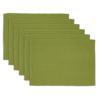 Asparagus Dobby Stripe Placemat Set of 6