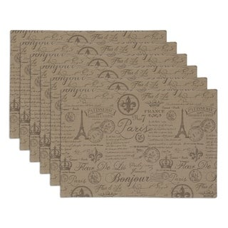 French Flourish Printed Placemat Set of 6