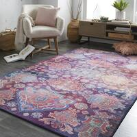Mohawk Home Prismatic Holyoke Geometric Medallion Area Rug (8' x 10') - 8' x 10'