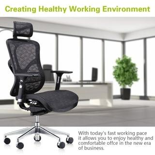 Deluxe Executive Ergonomic Multi Function Office Chair - Black