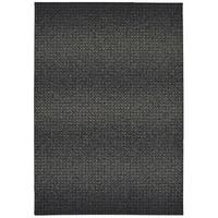 "Dappled Mist Black/ Ivory Micro Fiber Rug - 9'10"" x 12'10"""