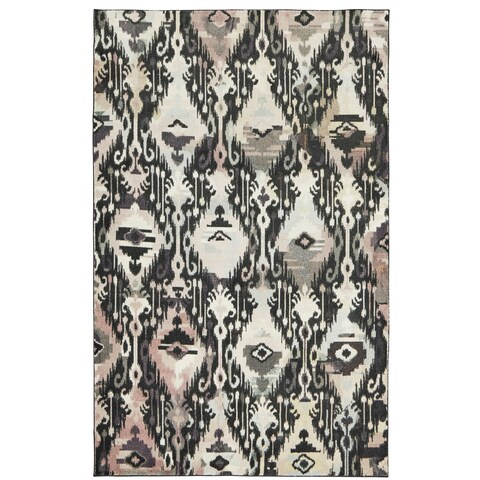 Silver Orchid Hinding Ikat Multicolor Area Rug