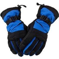 Men's Winter Warm Ski Snowboarding Winter Gloves w/Elastic Wrist Cuffs