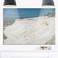 Panoramic View of Pammukale - Modern Seascape Glossy Metal Wall Art