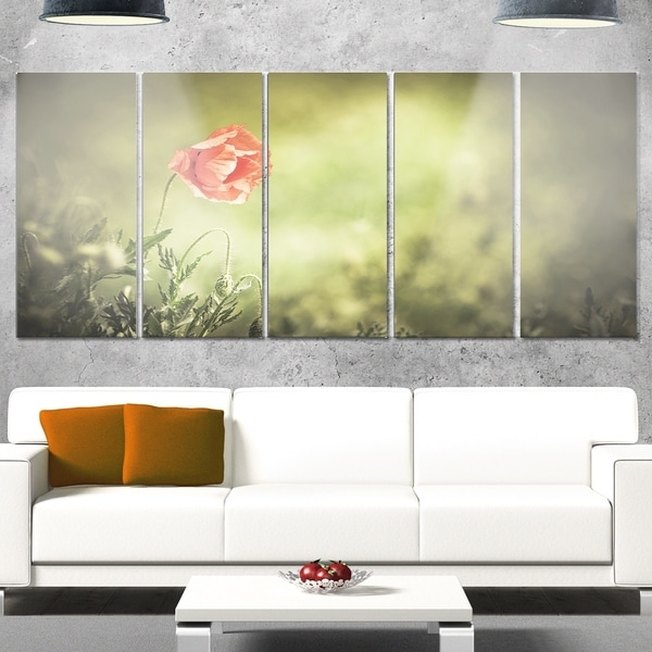 Fine Metal Poppy Wall Art Photos - Wall Art Design - leftofcentrist.com