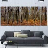 Phase1 Designart 'Dense Fall Forest Panorama' Modern Forest Metal Wall Art