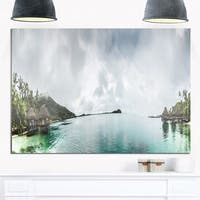 Phase1 Amazing Bora Bora Panoramic View - Large Seascape Glossy Metal Wall Art