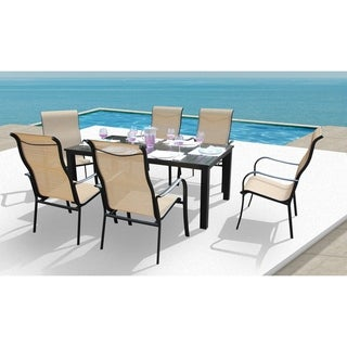Lizy 7 Pc Ginger Dining Set