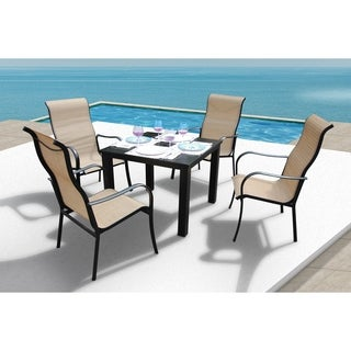 Lizy 5 Pc Ginger Dining Set