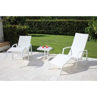 Timber Relax 2 Position Spring White Chair 3 pc Set
