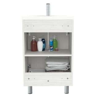 buy bathroom vanities vanity cabinets online at overstock com rh overstock com Lowe's Bathroom Vanities with Sink 6 FT Counter and Sink