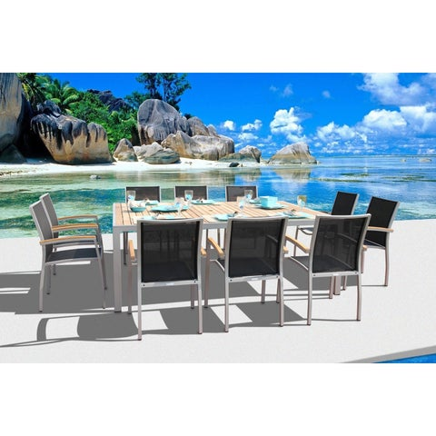 Galliano 11 Pc Dining Set with Castaway Sling