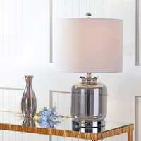 "Marsh 22"" Glass LED Table Lamp, Smoked Gray"