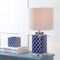 "Clarke 23"" Chinoiserie LED Table Lamp, Blue/White by JONATHAN  Y"