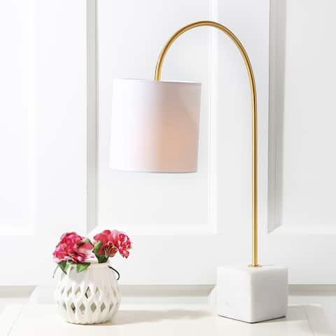 """Fisher 25"""" Marble/Brass LED Table Lamp by JONATHAN Y"""