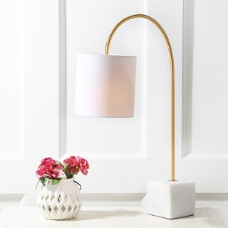"""Fisher 25"""" Marble/Brass Table Lamp by JONATHAN Y"""