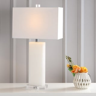 """Tiggie 27"""" Alabaster LED Table Lamp, White Alabaster by JONATHAN Y"""