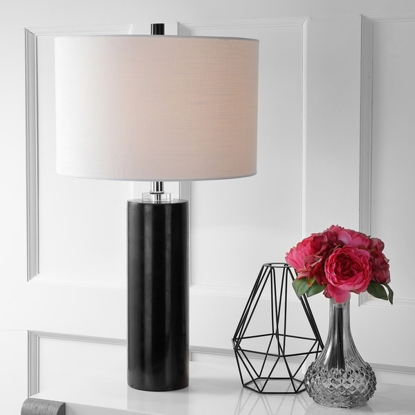 Shop Brooks 27 Quot Marble Crystal Led Table Lamp Black