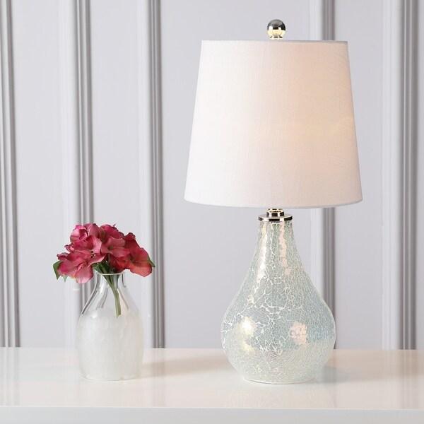"""Mona 20.5"""" Mini LED Table Lamp, Mosaic White"""