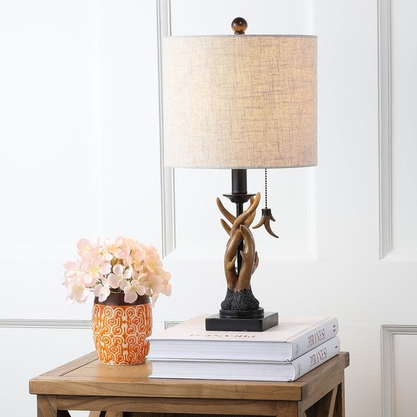 "Gaston 20.5"" Resin Mini LED Table Lamp, Brown"