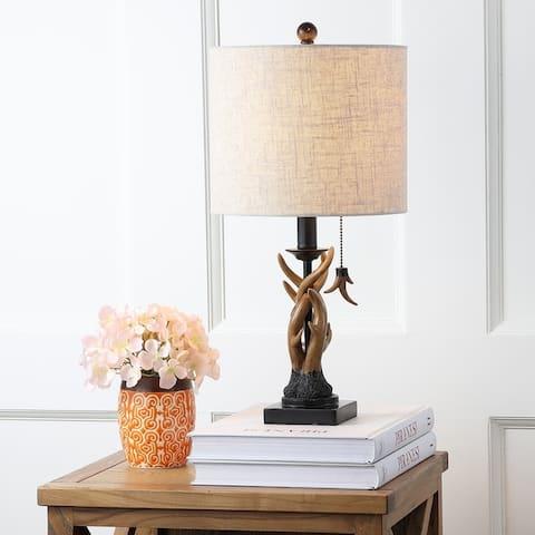 "Gaston 20.5"" Resin Mini LED Table Lamp, Brown by JONATHAN Y"