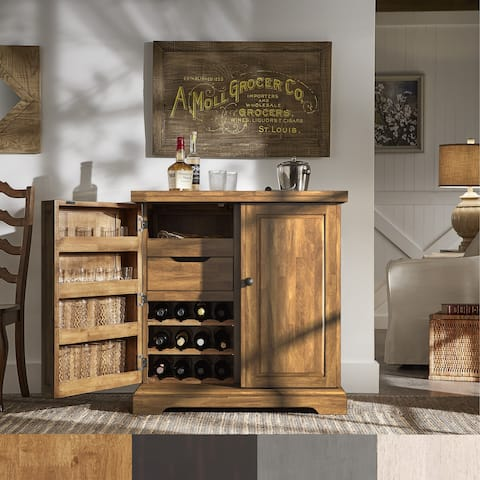 Astrid Expandable Wood Bar Cabinet Server by iNSPIRE Q Classic