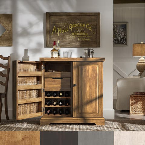 Incredible Buy Farmhouse Bar Cabinet Home Bars Online At Overstock Download Free Architecture Designs Pushbritishbridgeorg
