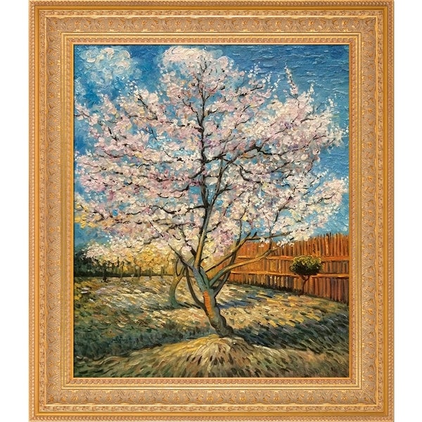 Shop Vincent Van Gogh Pink Peach Tree In Blossom Hand Painted Oil