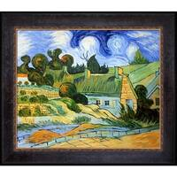 Vincent Van Gogh 'Thatched Houses in Cordville' Hand Painted Oil Reproduction