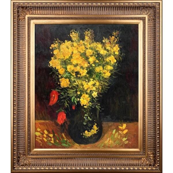 Shop vincent van gogh vase with viscaria poppy flowers hand vincent van gogh x27vase with viscaria poppy flowers mightylinksfo