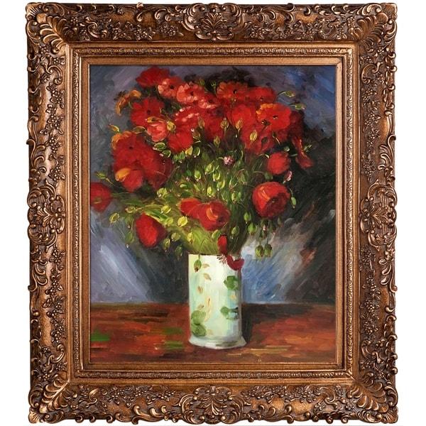 Shop Vincent Van Gogh Vase With Red Poppies 1886 Hand