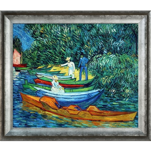 Vincent Van Gogh 'Rowing Boats on the Banks of the Oise' Hand Painted Oil Reproduction