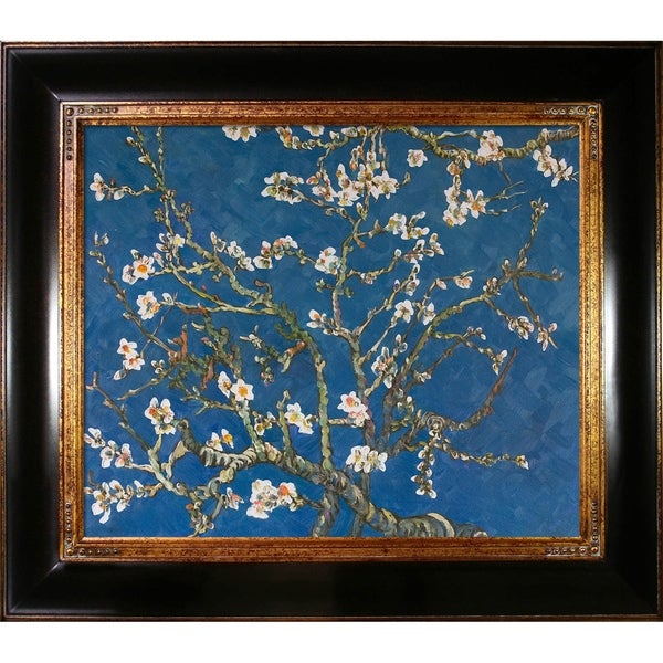 BRANCHES ALMOND TREE BLOSSOM FLOWERS PAINTING BY VINCENT VAN GOGH REPRO