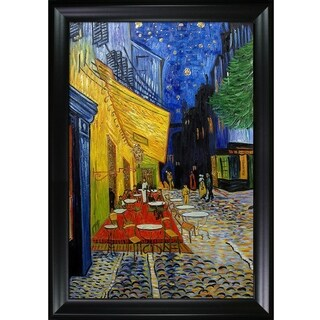 Vincent Van Gogh 'Cafe Terrace at Night' (Luxury Line) Hand Painted Oil Reproduction